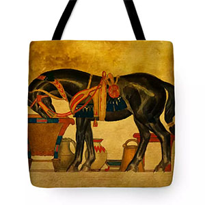 Black Stallion Tote Bag © Sarah Vernon - Buy at Fine Art America