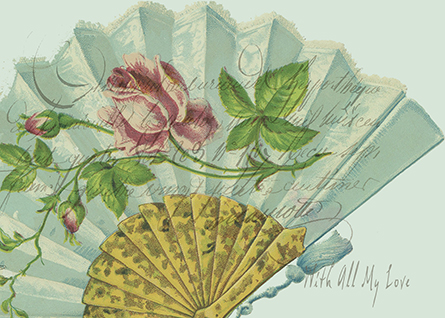 Decorated Valentine Fan © Sarah Vernon