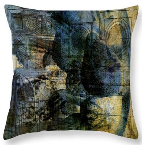 Buy Accidental Abstract Cushion © Sarah Vernon at Fine Art England