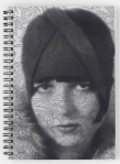 Buy The Louise Brooks Tattoo Spiral Notebook © Sarah Vernon from Redbubble