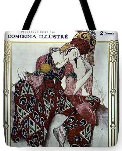 Nijinsky dans La Peri - Ballets Russes Tote Bag from Fine Art America © Sarah Vernon