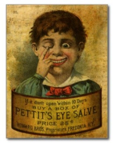 Vintage Eye Salve Advertisement © Sarah Vernon
