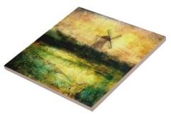 Buy Turning Windmill Tile © Sarah Vernon at Zazzle