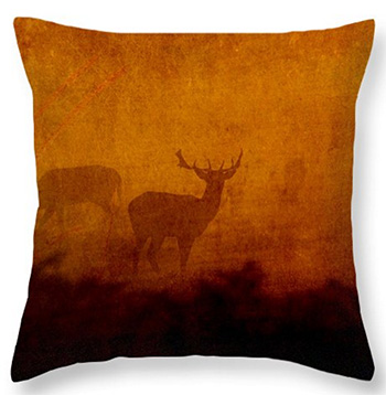 Shadow Deer © Sarah Vernon Throw Pillows