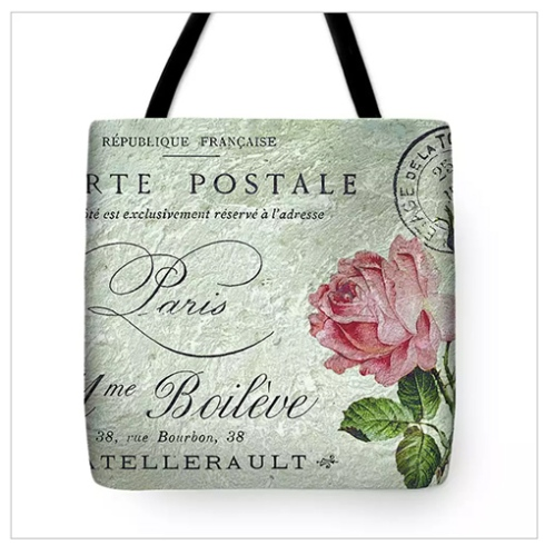 Petite Rose Confection Tote Bag © Sarah Vernon