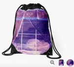 Waiting for the Dawn Drawstring Bags © Sarah Vernon at Redbubble