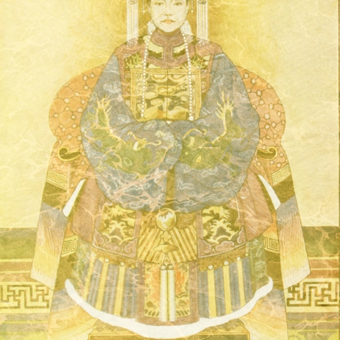Chinese Empress on Her Throne