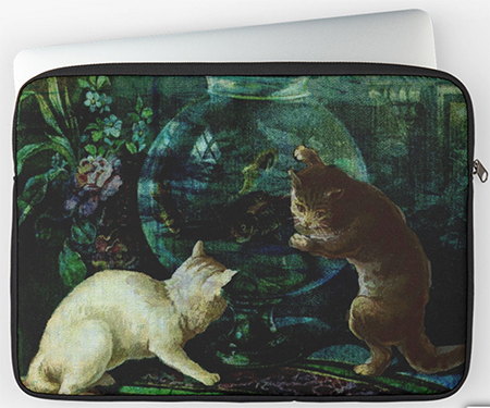 Curious Kittens Laptop Cases © Sarah Vernon at Redbubble