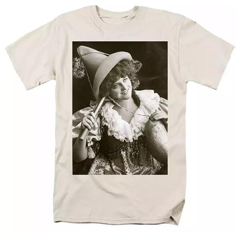 Miss Marie Studholme as Lady Madcap 1905 T-Shirts © Sarah Vernon at Fine Art America