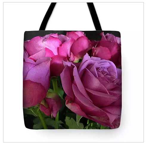 Pink Chiffon Tote Bag at Fine Art America © Sarah Vernon