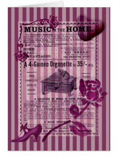 Music in the Home Greeting Card © Sarah Vernon/First Night Design