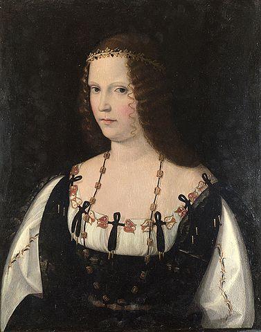 Portrait of Lucrezia Borgia by Bartolomeo Veneto [Wikimedia]