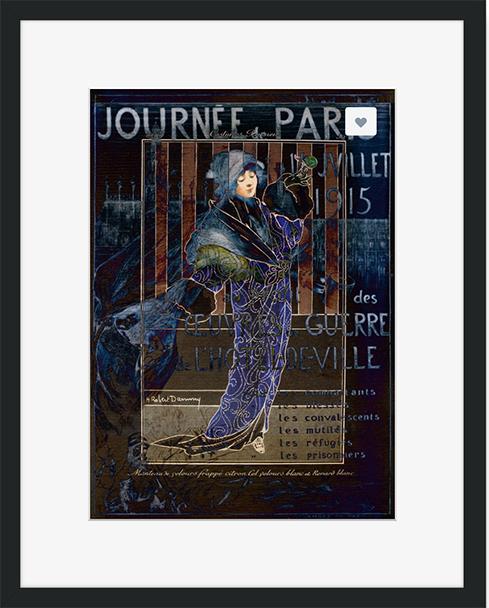 Une Valentine parisienne © Sarah Vernon Framed Print at Crated