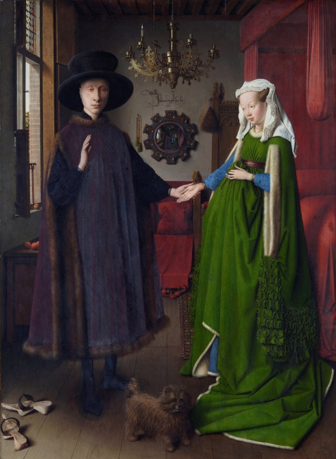 The Arnolfini Portrait (1434) by Jan Van Eyck (d.1441)