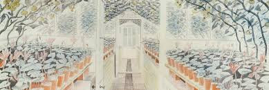 Eric Ravilious - The Greenhouse: Cyclemen and Tomatoes
