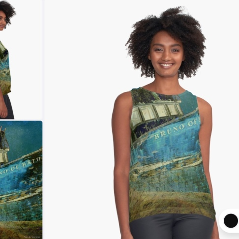 Midnight Shipwreck © Sarah Vernon Tank Top at Redbubble