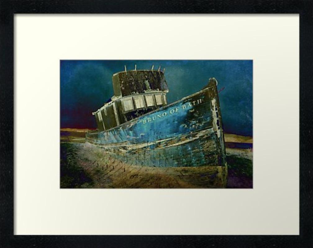Midnight Shipwreck © Sarah Vernon Framed Print at Redbubble