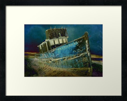 Midnight Shipwreck © Sarah Vernon Framed Print at Redbubble