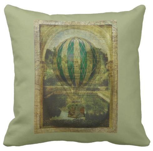Hot Air Balloon Voyage Cushion © First Night Design