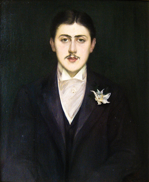 "Jacques-Émile Blanche, ""Portrait of Marcel Proust"" (1892), oil on canvas, Musée d'Orsay ([Public domain] via Wikimedia)"