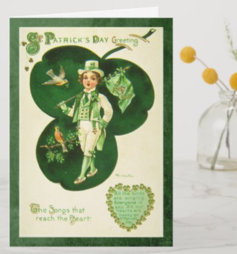 Vintage St Patrick's Greeting Card https://www.zazzle.co.uk/z/aq73iqu4 via @zazzle