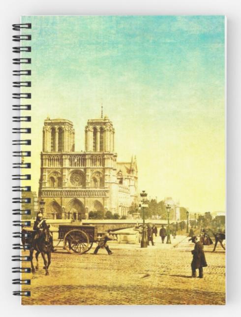 Vintage Notre Dame Spiral Notebook