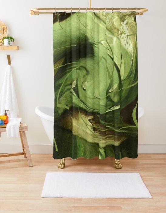 Mint Sauce @ Sarah Vernon Shower Curtain at Redbubble