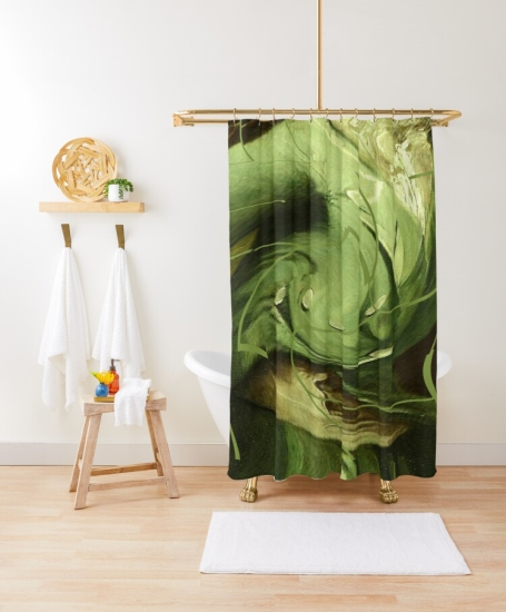 Mint Sauce @ Sarah Vernon Shower Curtain at Redbubble