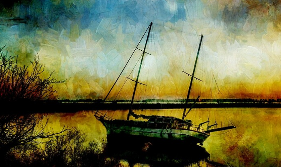 #New #Art Drop Anchor at Sunset