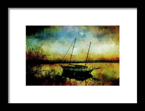Drop Anchor at Sunset Framed Print at Fine Art America