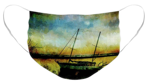 Drop Anchor at Sunset Face Mask at Fine Art America