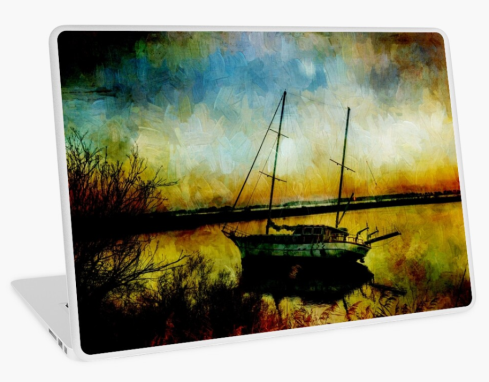 Drop Anchor at Sunset Laptop Skin at Redbubble