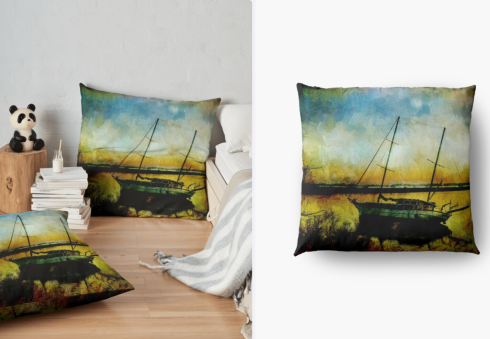 Drop Anchor at Sunset Throw Cushion at Redbubble
