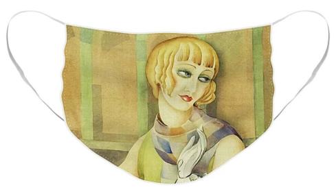 Lili Elbe by Gerda Wegener [1886 - 1940] Facemasks at Fine Art America