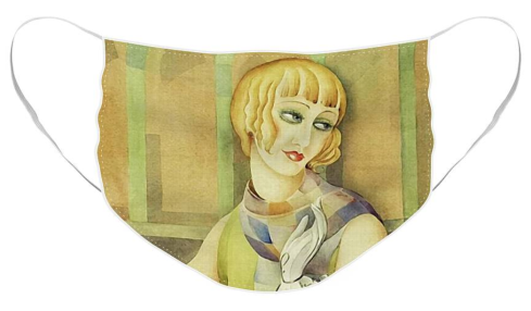 Lili Elbe by Gerda Wegener [1886 - 1940] Facemasks at Fine Art America