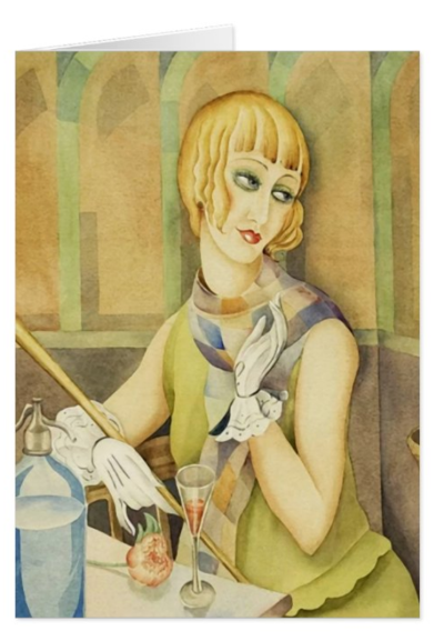 Lili Elbe by Gerda Wegener [1886 - 1940] Greeting Cards at Zazzle