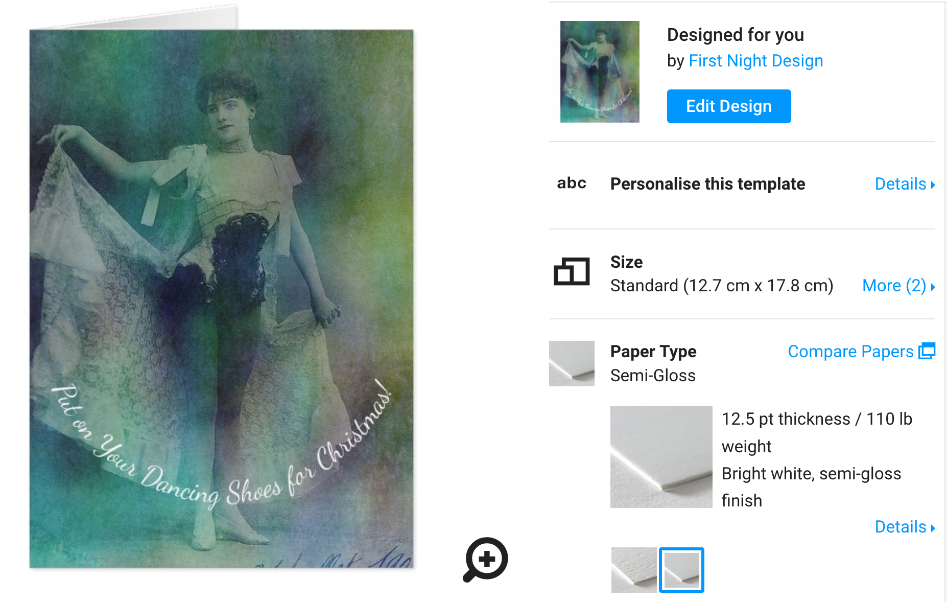 First Night Design | Syncopated Lady #Christmas Edition @ Zazzle #Art #New!
