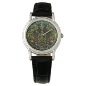 Indian Blue Peafowl Pattern Watch at Zazzle
