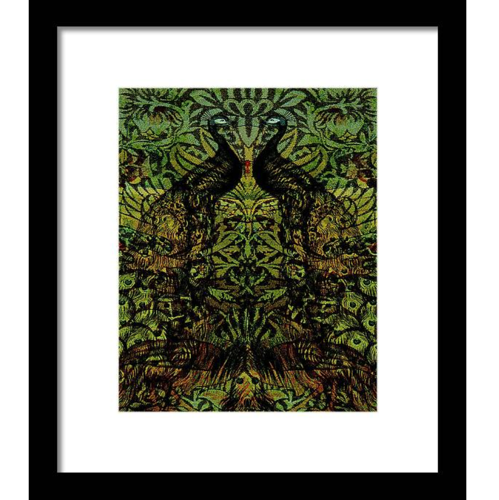 First Night Design | Indian Blue Peafowl Pattern #Art #New!