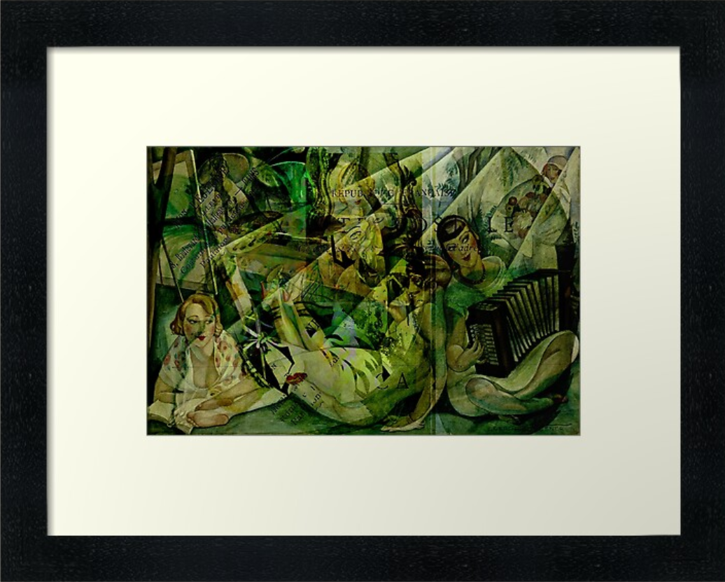 The Gerda Gals Framed Art Print at Redbubble © Sarah Vernon